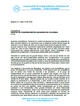 Carta Grupos abr 20 -2020