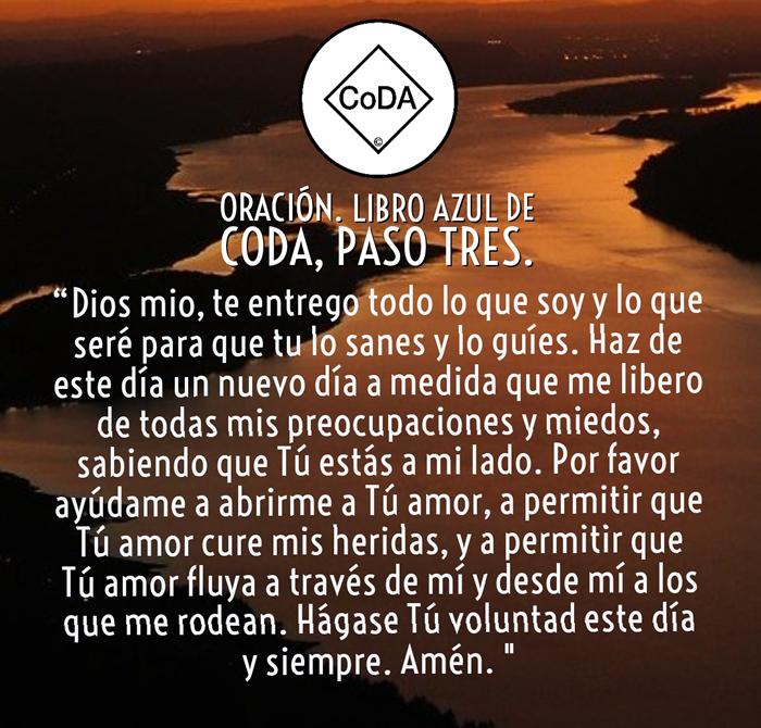 Oracion pasos tres del libro azil de coda